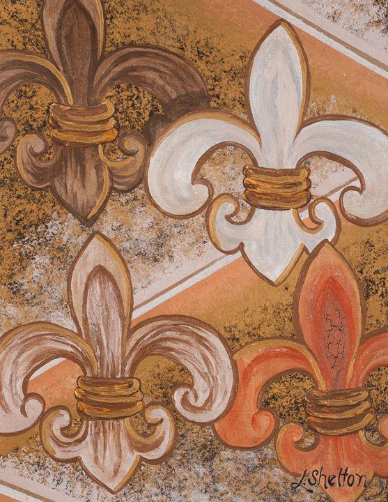 #20 Multi-Fleur de Lis - Linda D. Shelton's Paint Box