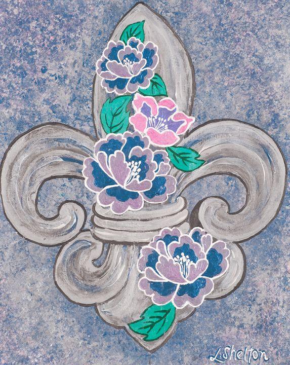 Peony Fleur de Lis - Linda D. Shelton's Paint Box