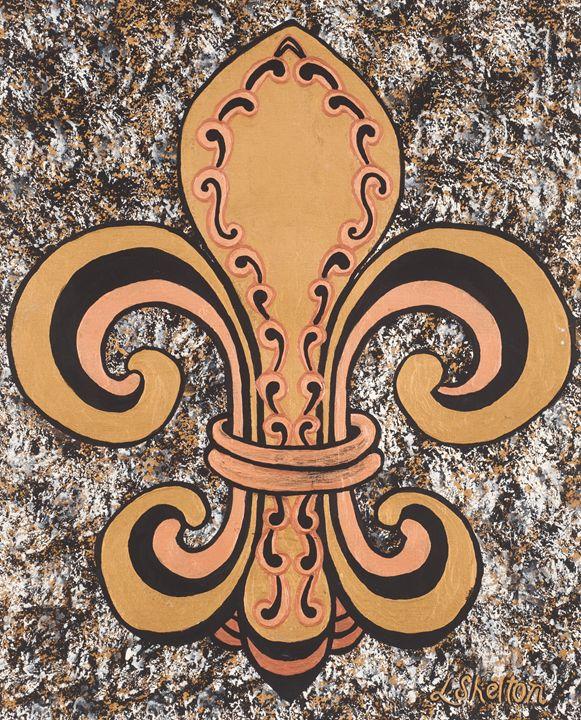 #8 Single Fleur de Lis - Linda D. Shelton's Paint Box