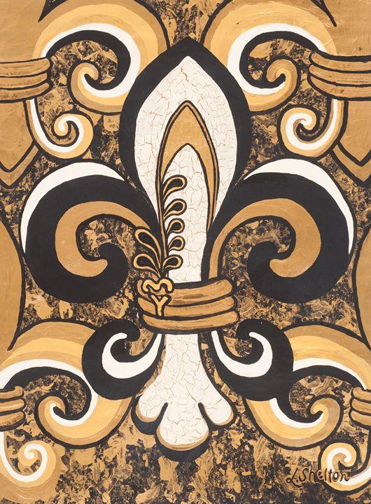 Crackle Fleur de Lis - Linda D. Shelton's Paint Box