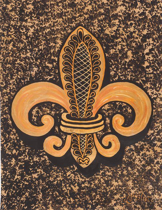 #5 Single Fleur de Lis - Linda D. Shelton's Paint Box