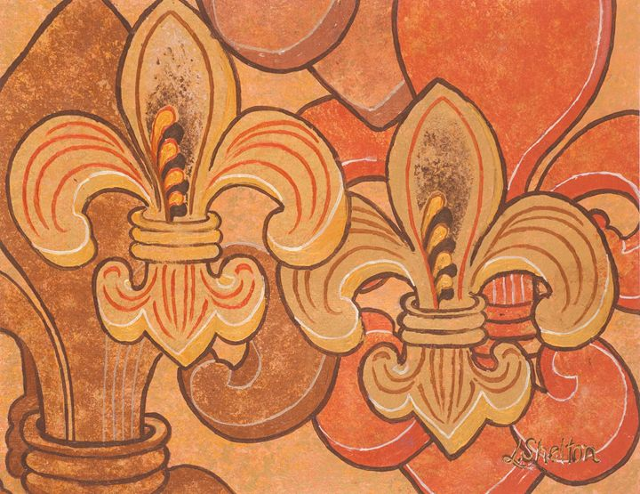 #9 Multi-Fleur de Lis - Linda D. Shelton's Paint Box