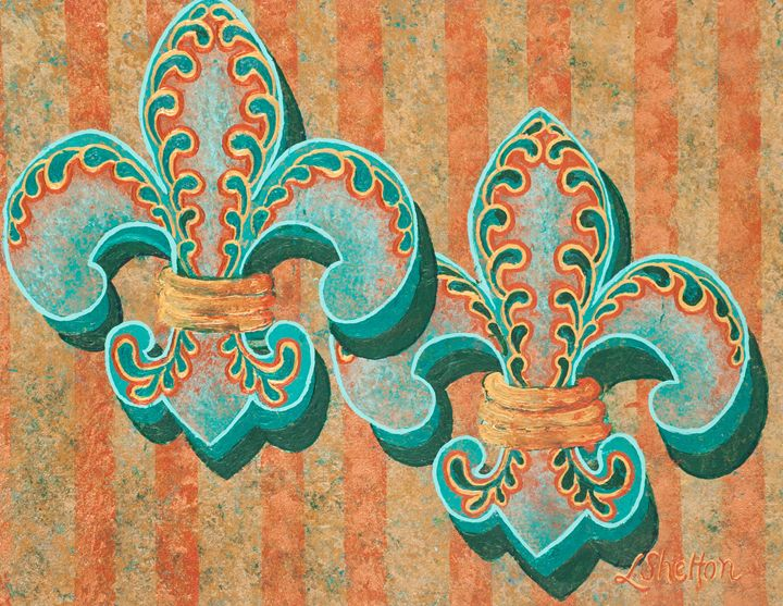 #10 Multi-Fleur de Lis - Linda D. Shelton's Paint Box
