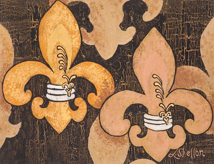 #12 Multi-Fleur de Lis - Linda D. Shelton's Paint Box