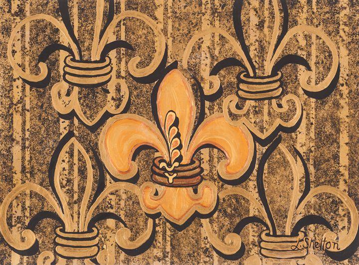 #14 Multi-Fleur de Lis - Linda D. Shelton's Paint Box
