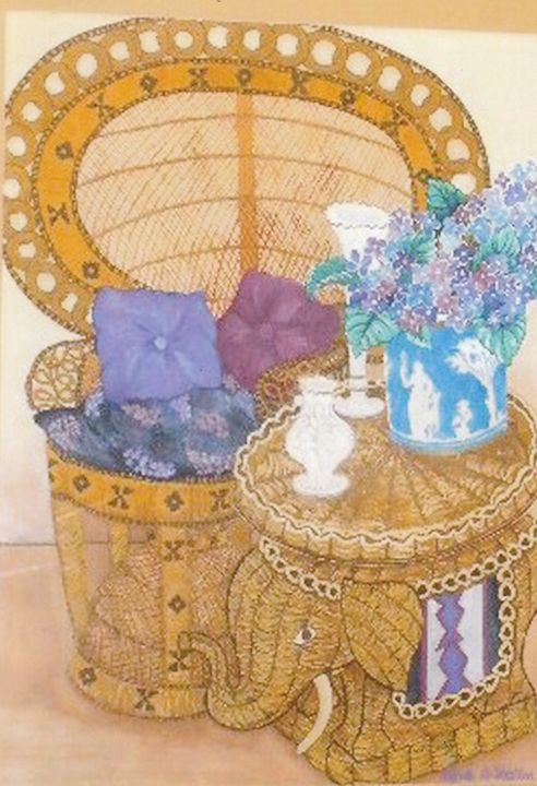"*""Wicker Lace"" - Linda D. Shelton's Paint Box"