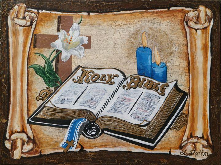 "*""Open Bible"" - Linda D. Shelton's Paint Box"