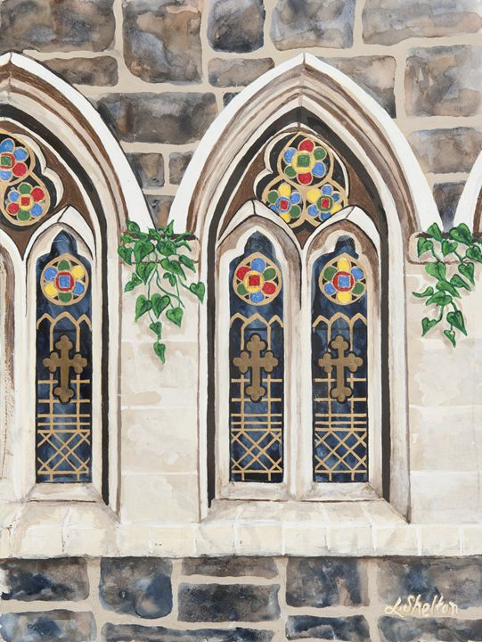"""""""Stained Glass Church Window"""" - Linda D. Shelton's Paint Box"""