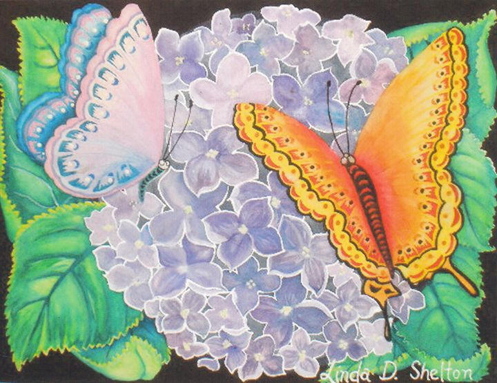 """Rainbow Butterflies"" - Linda D. Shelton's Paint Box"