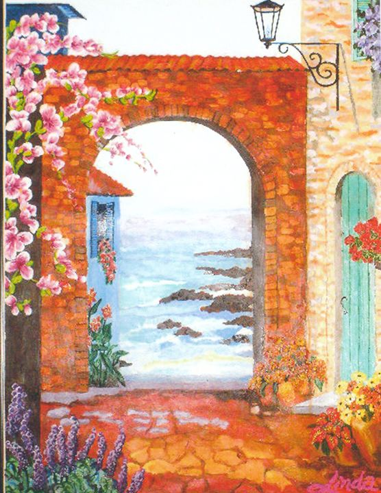 """Surfside Court"" - Linda D. Shelton's Paint Box"
