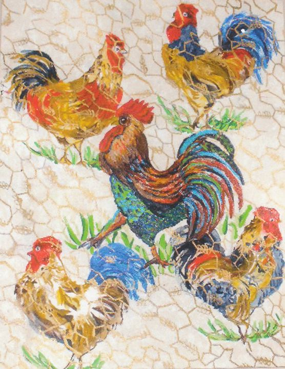 """Roosters"" - Linda D. Shelton's Paint Box"