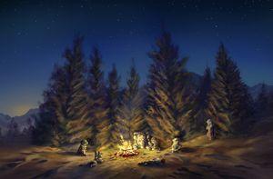 Chrono Trigger - Forest Campfire