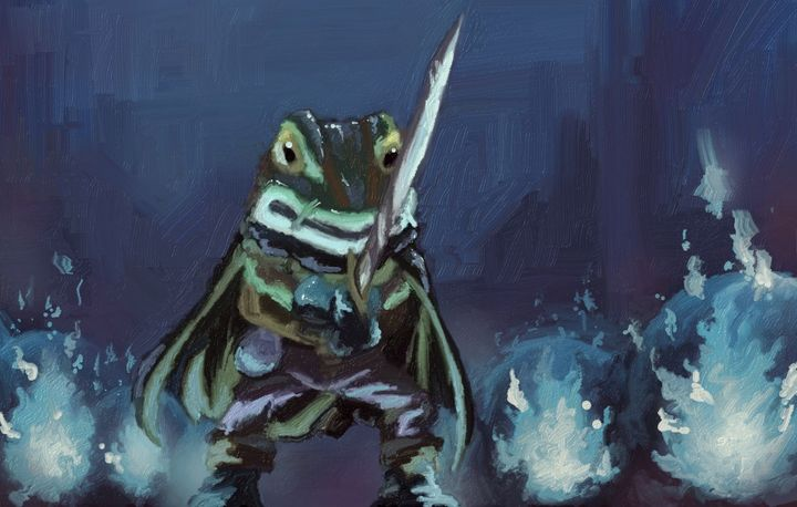 Confrontation of the Knight - Retro Game Art