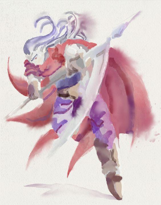 Magus - Watercolor Series - Retro Game Art