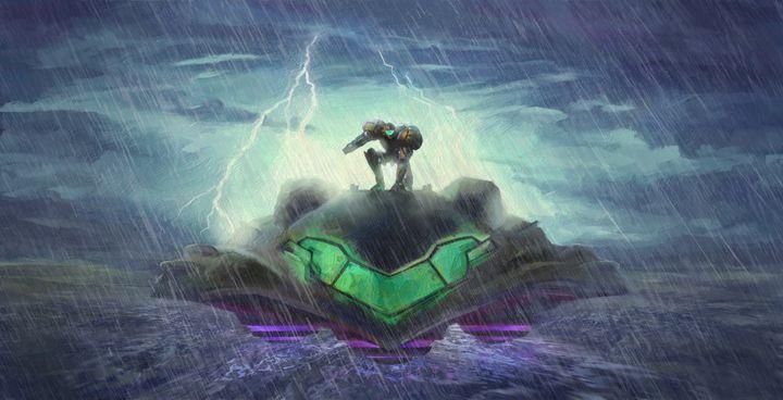 Super Metroid - Arrival on Zebes - Retro Game Art