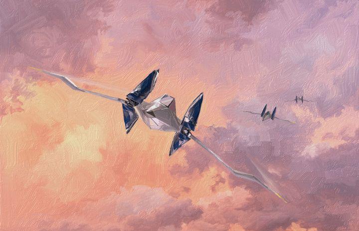 Star Fox Arwings - Retro Game Art