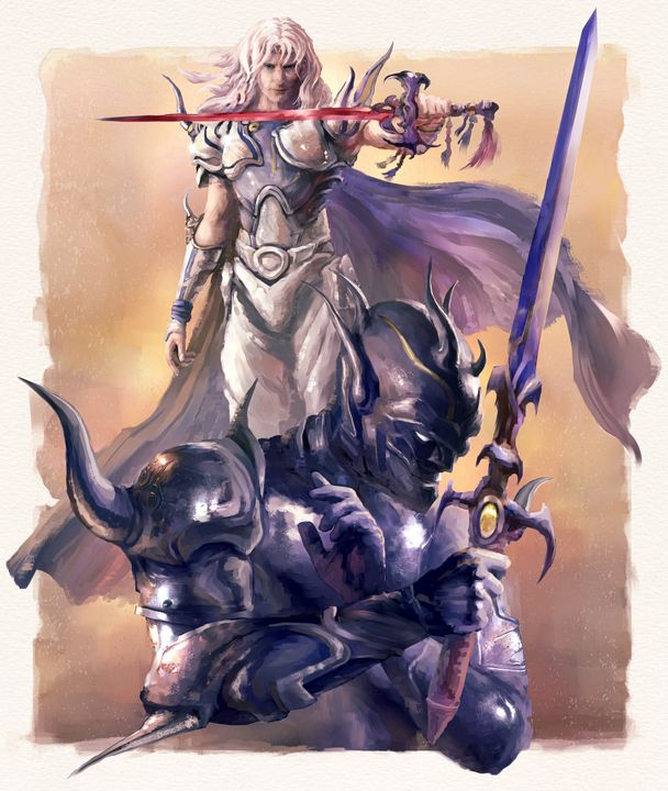 Cecil from Final Fantasy IV - Retro Game Art
