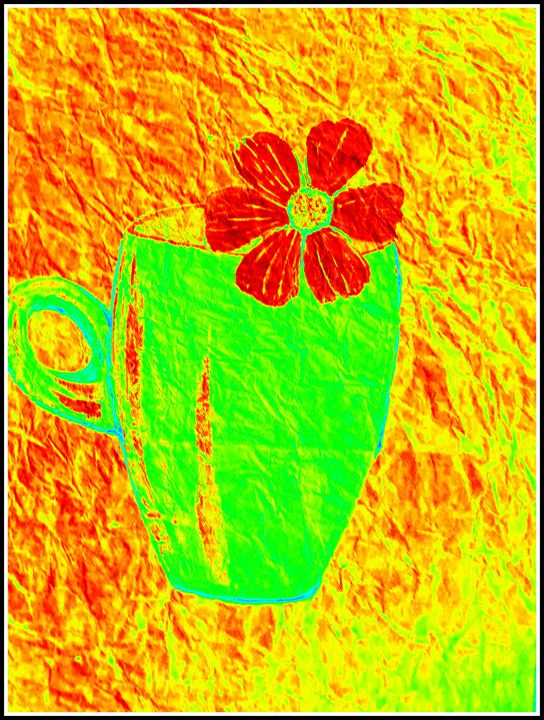 flower and cup - pranava