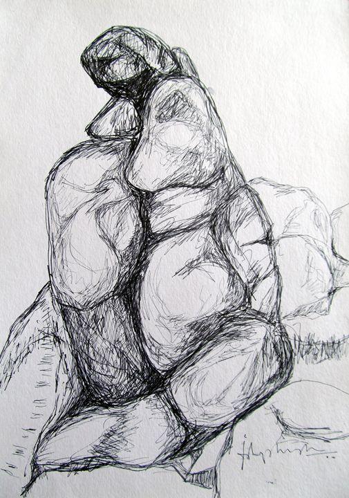 hampi series-drawing08 - pranava