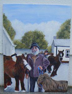 Original Painting AT THE HORSE FAIR