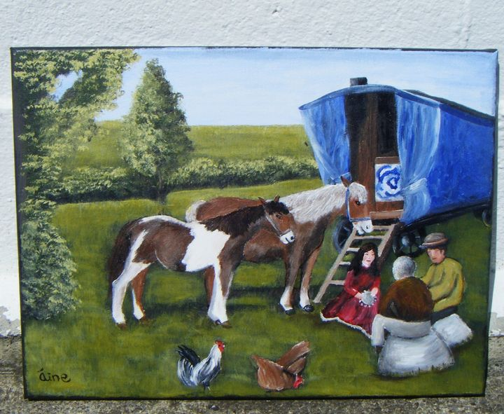 Original Painting  By the Roadside. - Aine Art