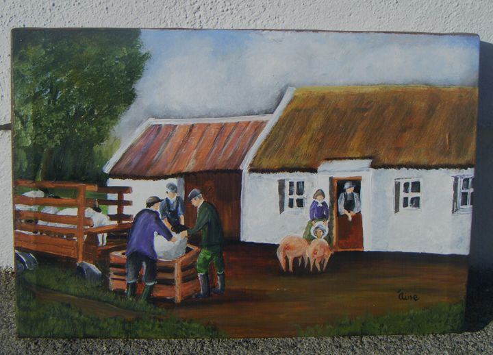 Original Painting FARMWORK - Aine Art