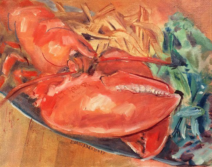 Steamed Lobster Dinner, Art New Bern - Lisa Bisbee Lentz at Greater Good Gallery