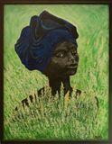 Black woman in fields