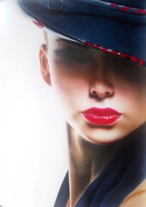 Femme fatale - Airbrush portrait