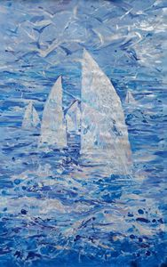 Large sea painting i009