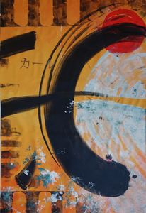 Large abstract painting A067 Enso