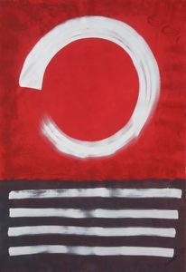 Large abstract painting A277 Enso