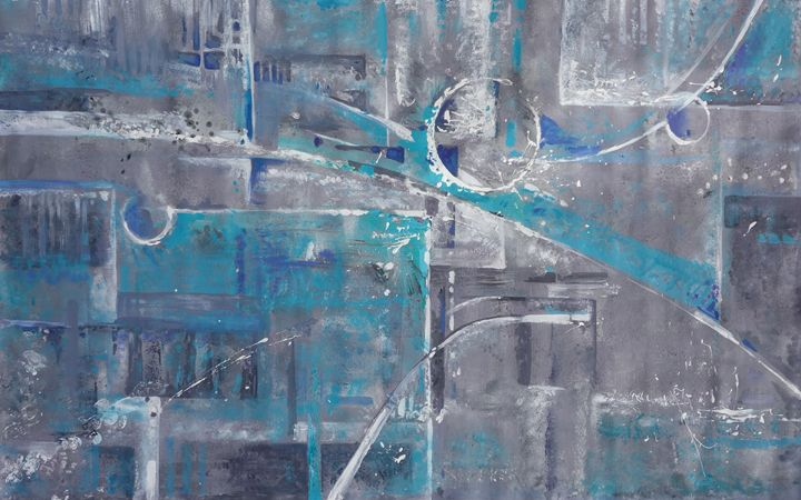 Large abstract painting i003 - Abstract art