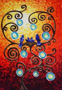 Tree of life Large painting B070