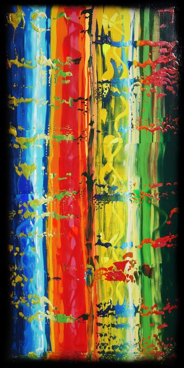 Colorful abstract stripes painting - Abstract art