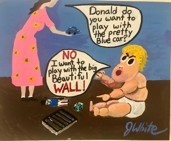 Baby Trump Free Shipping in USA - Unemployed Artist