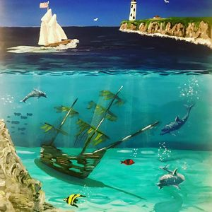 Sunken Ship Free Shipping - Unemployed Artist