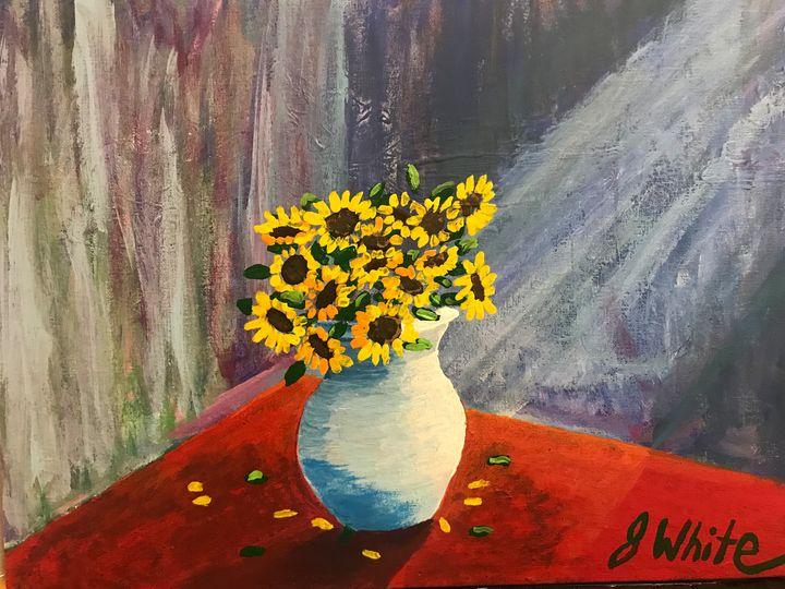 Sunflowers in window - Unemployed Artist