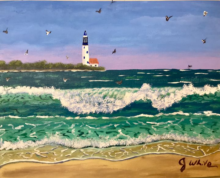Lighthouse on the bay - Unemployed Artist