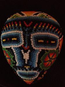Hoichol Beaded Mask
