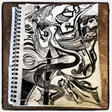 Abstract charcoal