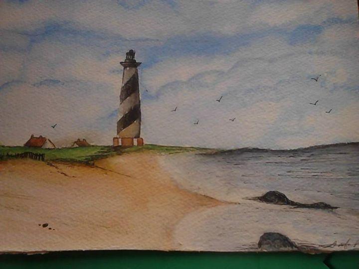 little lighthouse - Jennifer Rose Art