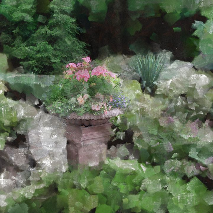 MY NEIGHBOR'S GARDEN - DIGITAL ARTOGRAPHY