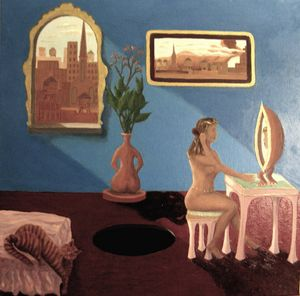 Her Boudoir - The View Out My Window: paintings by Gary Conger