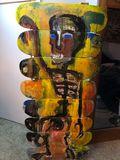 skateboard sculpture painting
