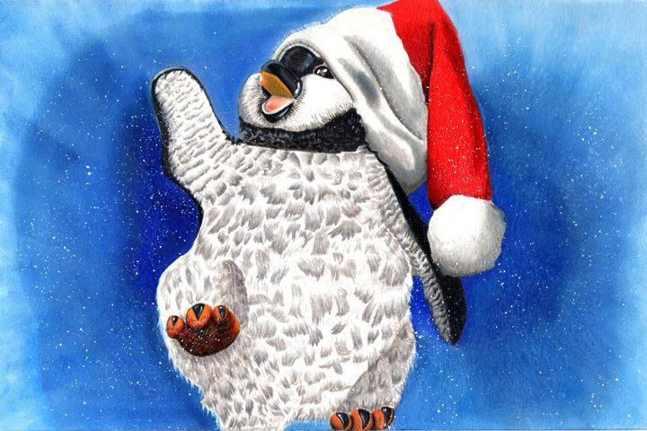 Holiday Penguin - Shamazing Artwork