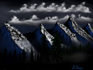 Mountain evening