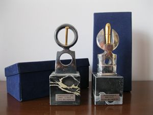 Pair of sculptures
