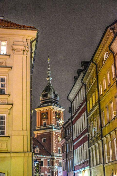 Architecture City by Night Warsaw - Eva Design