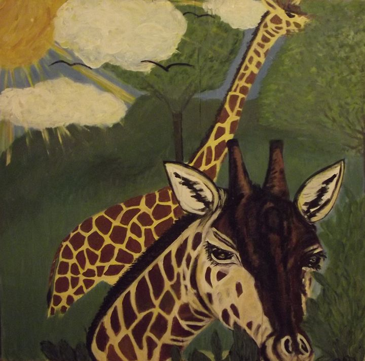Giraffes - Art For the Master